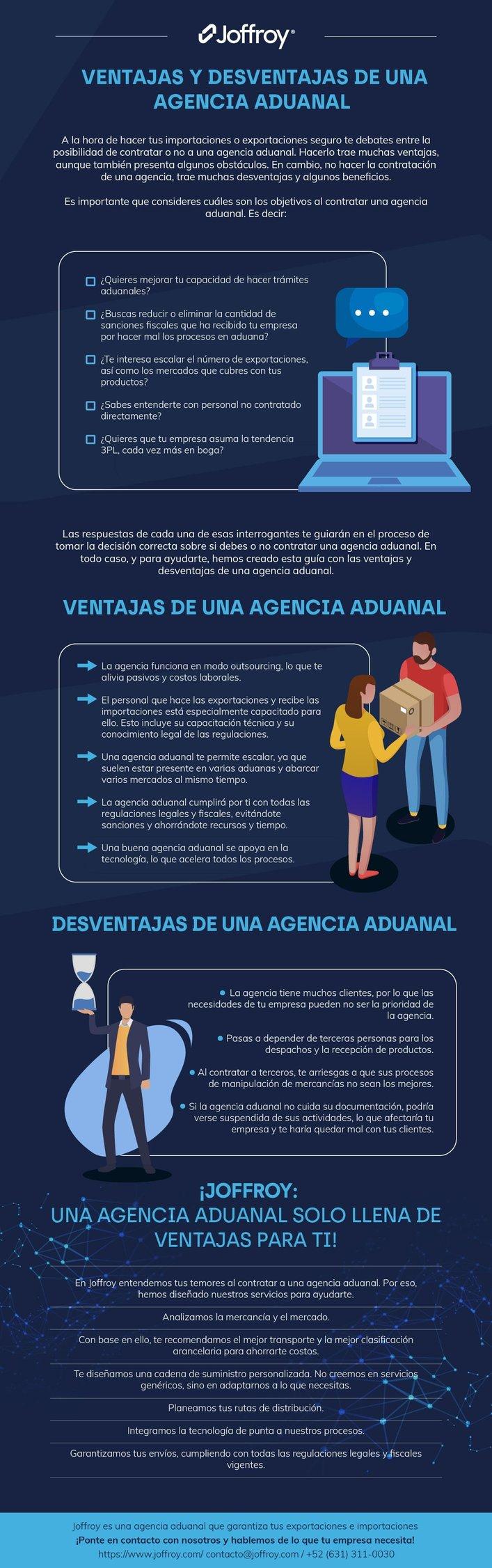 ventajas-y-desventajas-agencia-aduanal- infografia